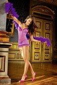 Маленькое лиловое платье с рюшами - Секс шоп Мир Оргазма