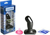 Анальная пробка изогнутой формы titanmen training tool  - Секс шоп Мир Оргазма